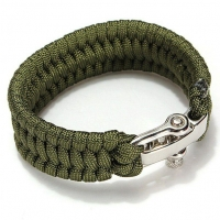 Браслет паракордовый Paracord Bracelets w/D-Shackle Closure - Olive